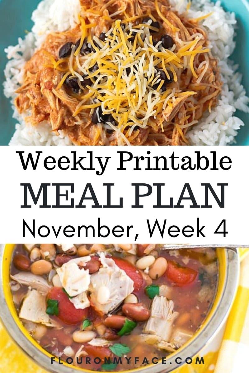 November Weekly Menu Plan 4 preview
