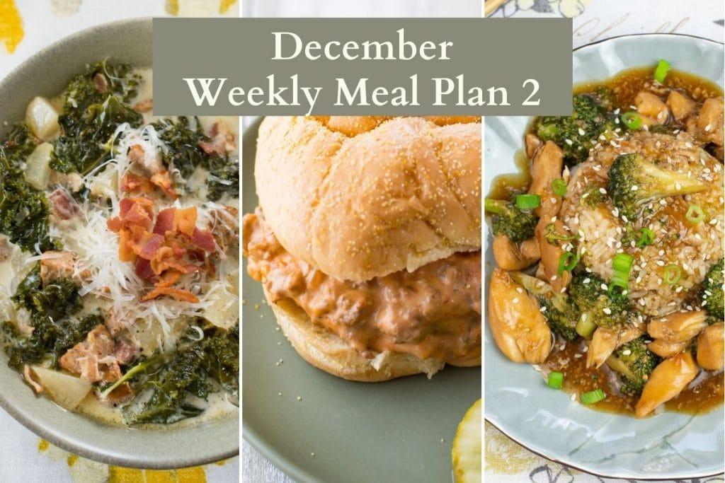 Recipe preview December meal plan