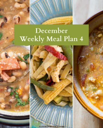 Weekly Meal Plan Recipe Preview images