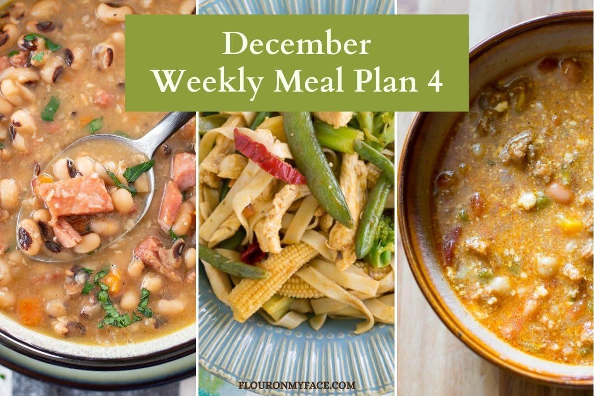 Meal Plan recipe collage image.