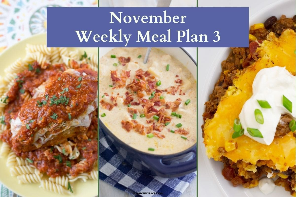 Previews of crock pot chicken Parmesan, Crock Pot Loaded Potato Soup and Crock Pot Tamale Pie recipes