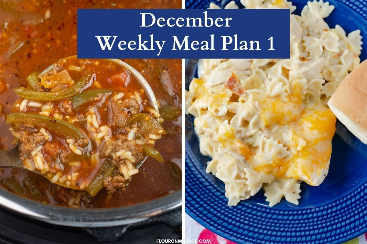Two side by side images of featured recipes.