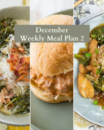 Collage photo December Menu Plan 2
