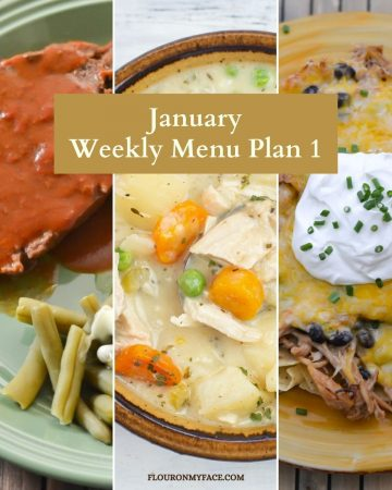 January Menu Plan recipe preview image.