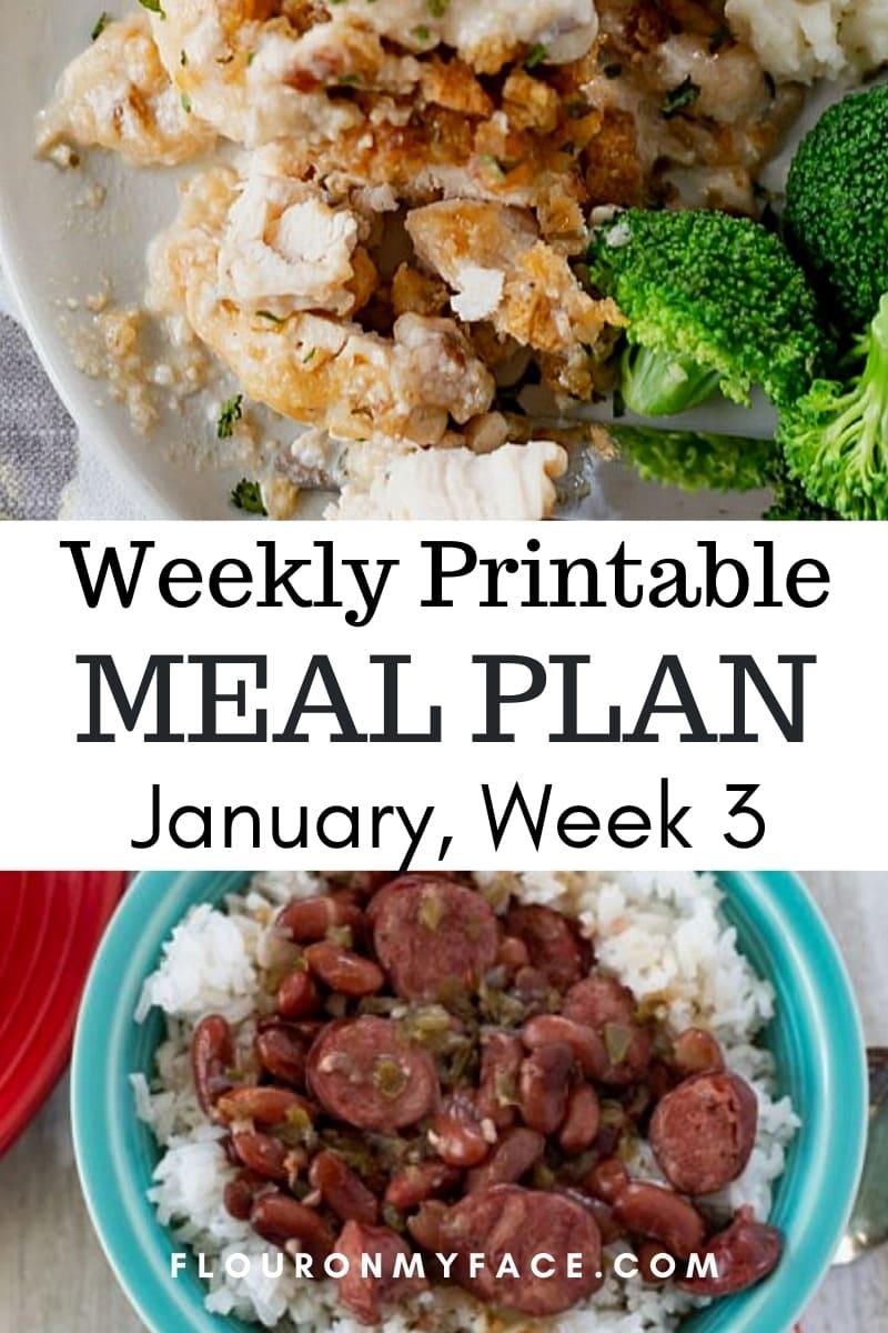 January Menu Plan 3 Recipe preview