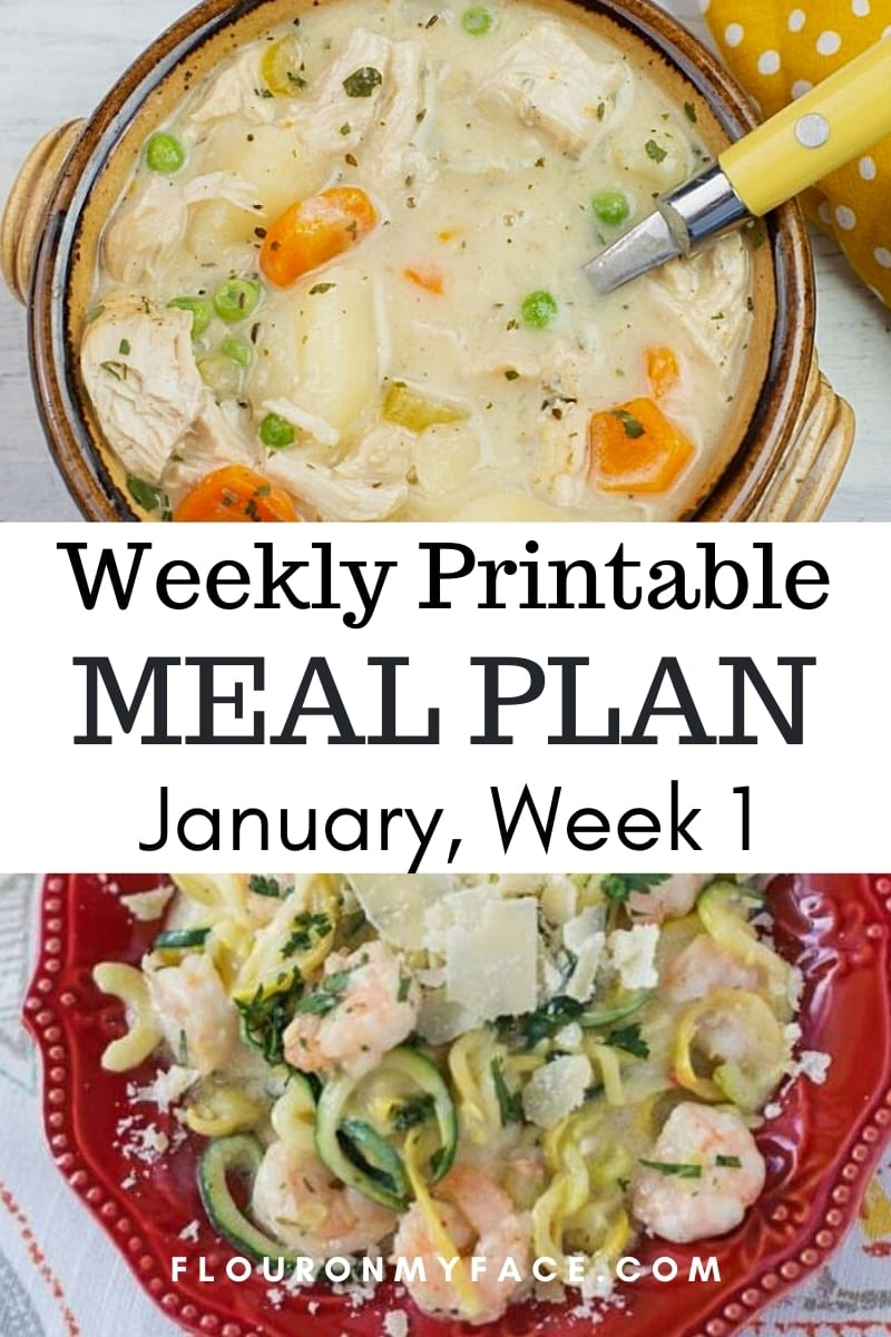 January Menu Plan Week 1 featured image