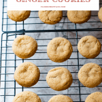 Chewy Ginger Cookies on a cooling rack.