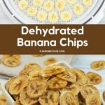 Before and after photo of making dried banana chips.