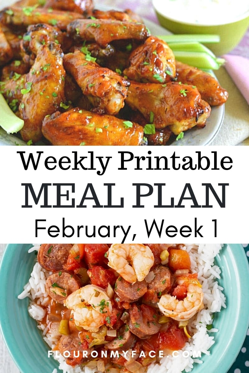 February Menu Plan Week 1 preview image.