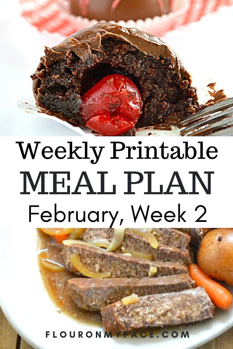 February Menu Plan 2 Preview image.