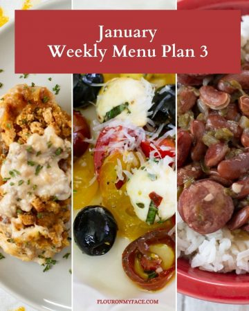 January Menu Plan preview recipes.