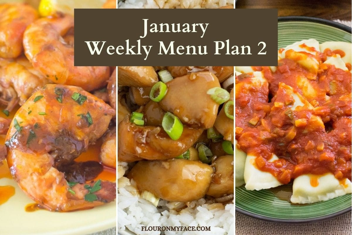 January Weekly Menu Plan 2