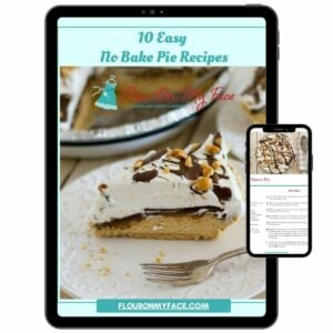 Preview image of the cover of of the 10 Easy No Bake Pie Recipes eBook