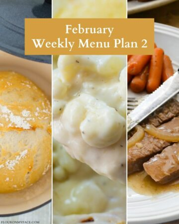 3 Feature menu plan recipes.