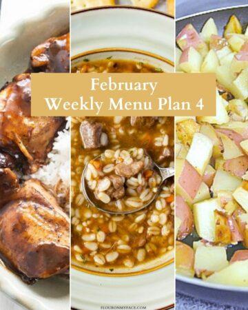 Preview photos of 3 menu plan recipes preview.