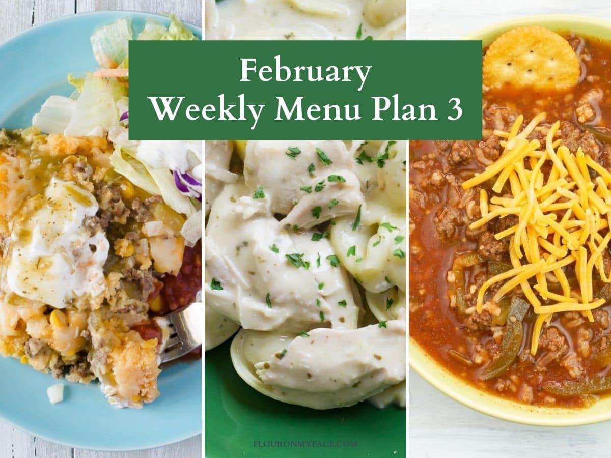Menu Plan preview recipes.