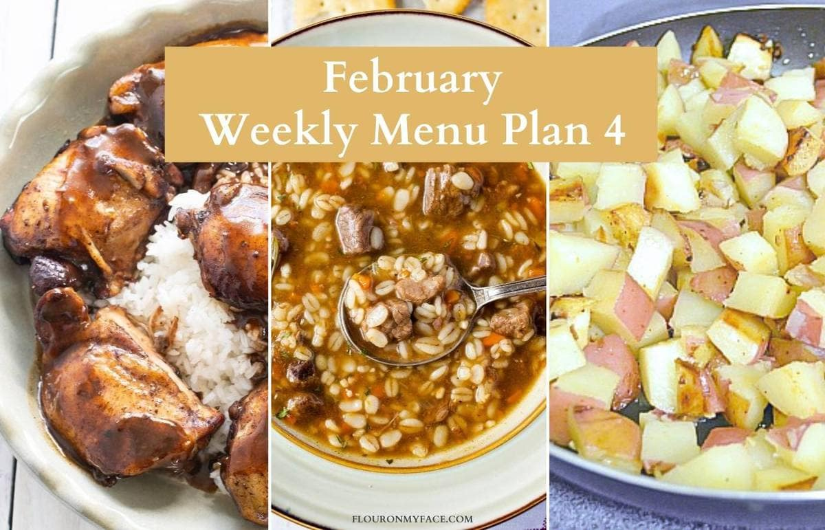 February Menu Plan 4 Featured Recipes Preview.
