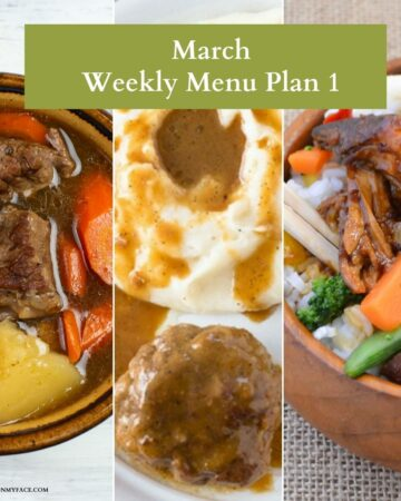 Preview of 3 recipe from the March Menu Plan Week 1.