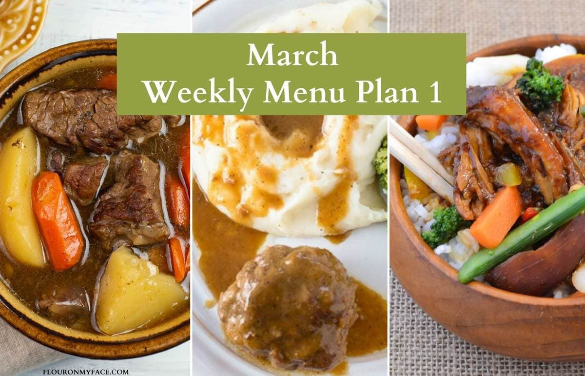 March Weekly Menu Plan Preview recipe image.