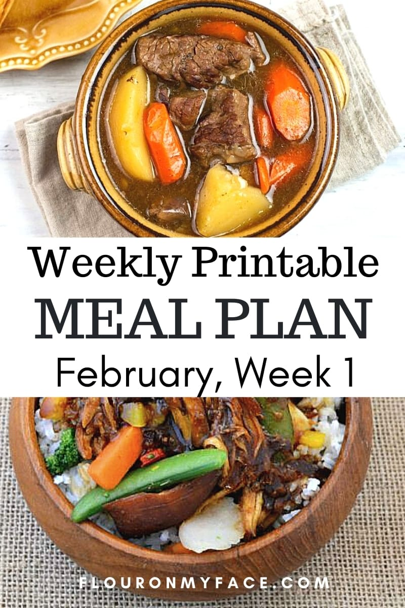 March Menu Plan Week 1 Preview Image.