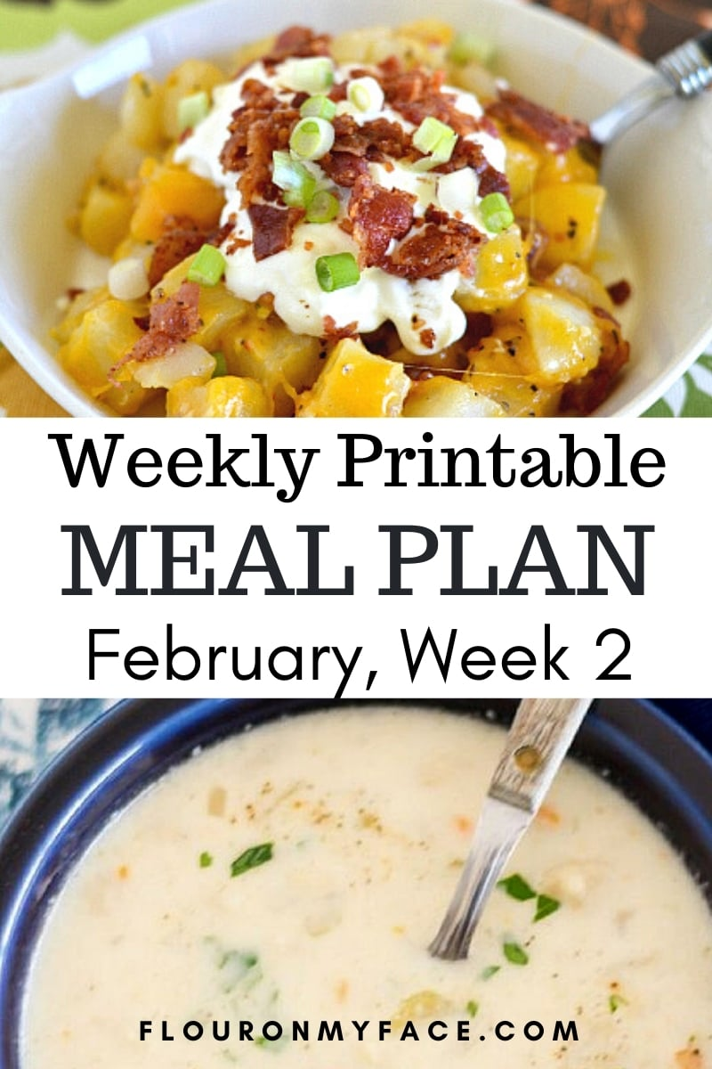 March Menu Plan 2 recipe preview image.