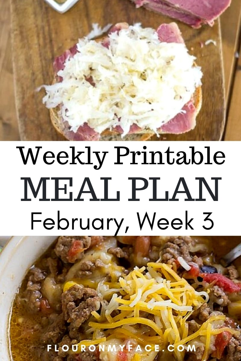 Weekly Menu Plan Recipes Preview Image.