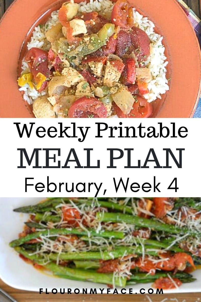 March Menu Plan 4 recipe preview image.