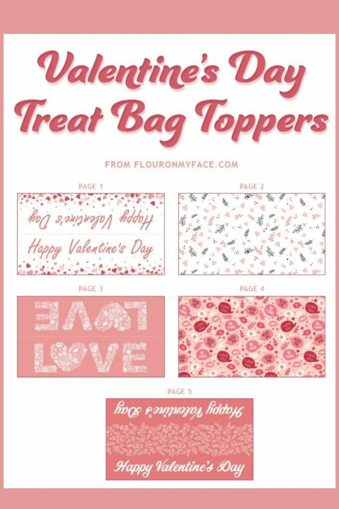 Valentine's Day Treat Bag Toppers preview.