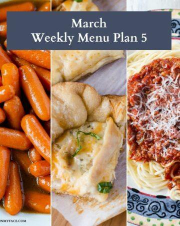 March menu plan preview image.