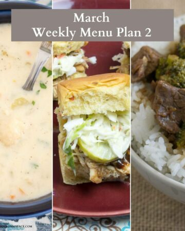 March Weekly Menu Plan Preview.