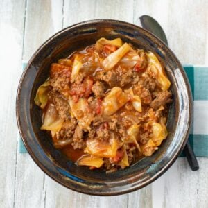 Unstuffed cabbage in a bowl.
