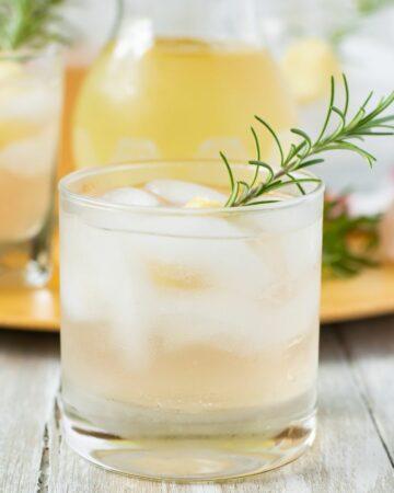Shell Beach Rum Cocktail in a high ball glass.