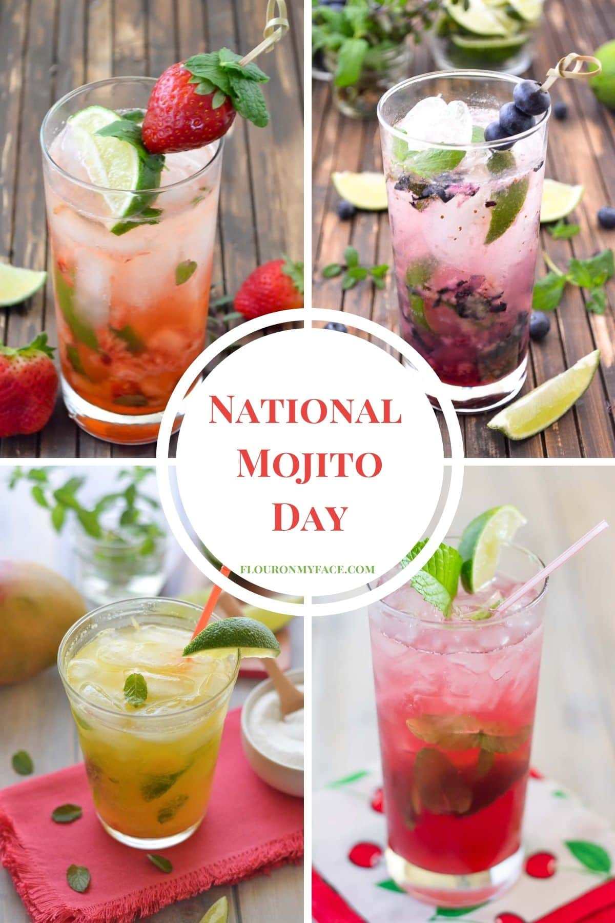 National Mojito Day - celebrate this cocktail holiday with one of these fruity Mojito recipe.