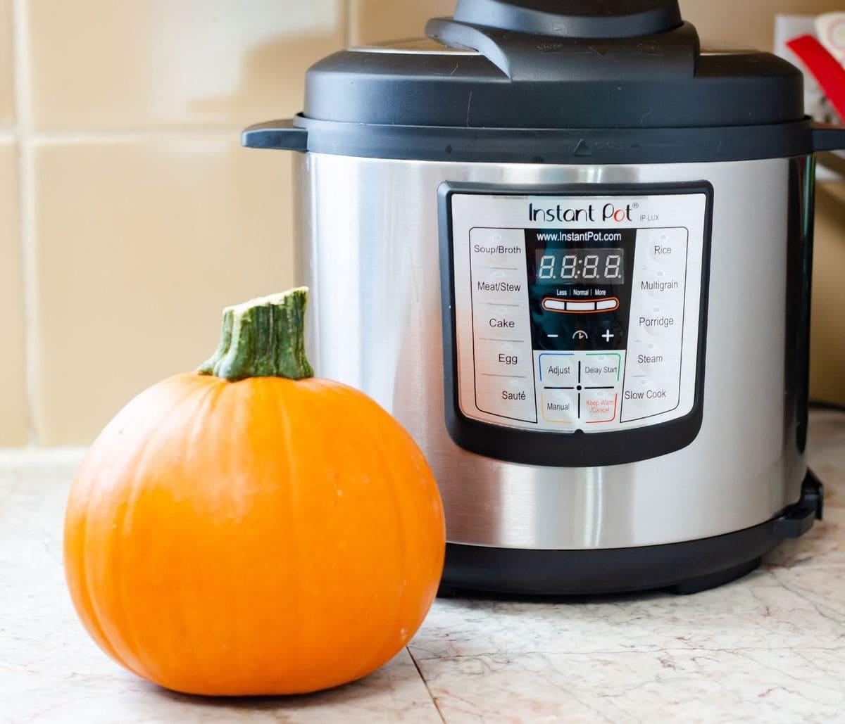 Cooking fresh Pie Pumpkin in the Instant Pot